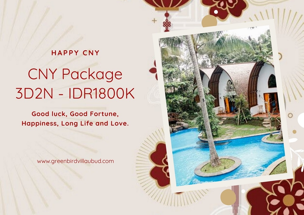 CNY Package Green Bird Villa Ubud