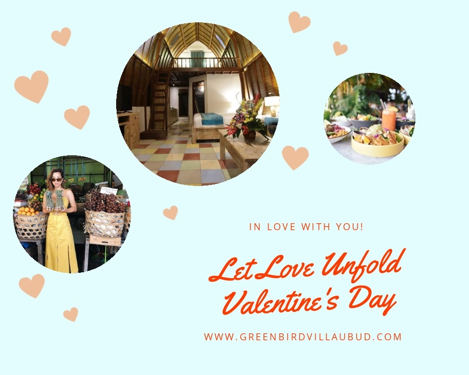 Valentine's Day Green Bird Villa Ubud